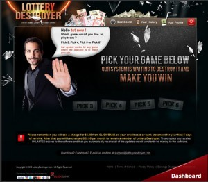 Lottery Destroyer - MoneyLottery Destroyer SOFTWARE