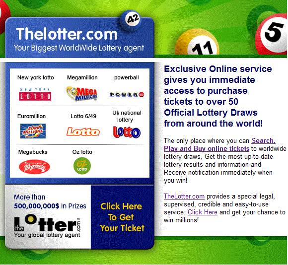 The Lotter - Buy A Lottery Ticket Online